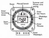 Grasslin 2 Chan Timeswitch Digital (20 on/off) 240v Tactic 372.1